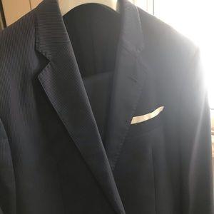 Giorgio Armani, navy blue pinstripe suit